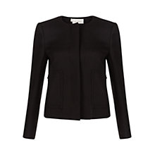 Buy Hobbs Beatrix Jacket, Black Online at johnlewis.com