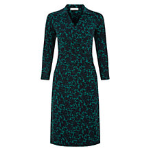 Buy Hobbs Anne Dress, Navy/Green Online at johnlewis.com