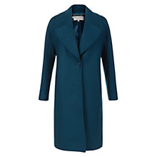 Buy Hobbs Ailene Coat, Sea Blue Online at johnlewis.com