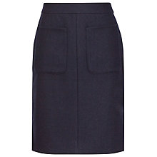 Buy Reiss Pheonix Wool Effect Skirt, Navy Online at johnlewis.com