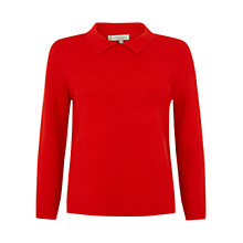 Buy Hobbs Olivia Jumper, Hot Red Online at johnlewis.com