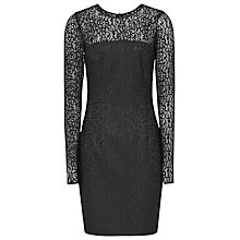 Buy Reiss Celina Bonded Lace Bodycon Dress, Black Online at johnlewis.com