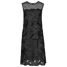 Buy Reiss Double Layer Lace Dress, Black Online at johnlewis.com