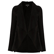Buy Warehouse Suedette Waterfall Jacket, Black Online at johnlewis.com