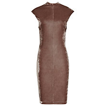 Buy Reiss Laine Velour Back Detail Dress, Mocha Online at johnlewis.com