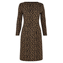 Buy Hobbs Animal Jacquard Dress, Brown/Black Online at johnlewis.com