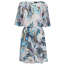 Buy Warehouse Embellished Marble Dress, Multi Online at johnlewis.com