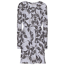 Buy Reiss Cassidy Printed Dress, Multi Grey/Black Online at johnlewis.com