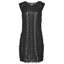 Buy Reiss Bibi Appliqué Shift Dress, Black/Silver Online at johnlewis.com