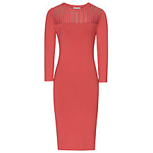 Buy Reiss Sheer Stripe Dress, Ambrosia Online at johnlewis.com