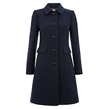 Buy Hobbs Wool Gweneth Coat, Navy Online at johnlewis.com
