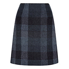 Buy Hobbs Alis Wool Skirt, Blue Multi Online at johnlewis.com