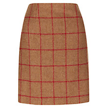 Buy Hobbs Wool Dublin Skirt, Dark Camel Online at johnlewis.com