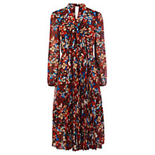 Buy Karen Millen Floral Print Midi Dress, Multi Online at johnlewis.com