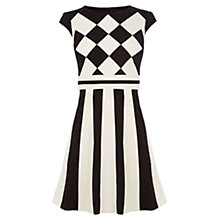 Buy Karen Millen Monochrome Colour Block Dress, Black/White Online at johnlewis.com