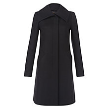 Buy Hobbs Fiona Coat, Black Online at johnlewis.com