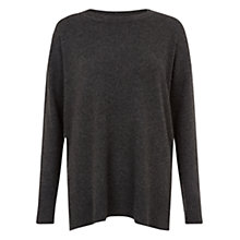 Buy Hobbs Natalie Cashmere Jumper, Charcoal Online at johnlewis.com