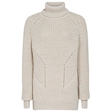 Buy Reiss Dara Roll Neck Jumper, Soft Sahara Online at johnlewis.com