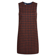 Buy Hobbs Cork Wool Blend Dress, Amber Navy Online at johnlewis.com