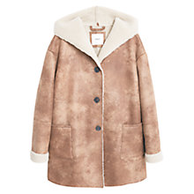 Buy Mango Pocket Shift Coat, Dark Brown Online at johnlewis.com