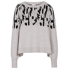 Buy Reiss Elisa Animal Jacquard Jumper, Warm Storm Online at johnlewis.com