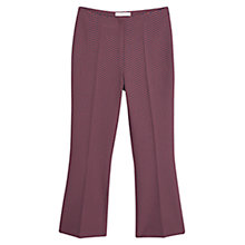 Buy Mango Mosaic Pattern Trousers, Navy/Red Online at johnlewis.com