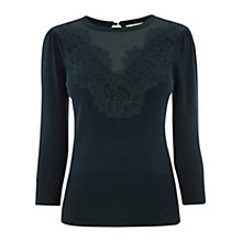Buy Oasis Victoriana Knitted Jumper, Deep Green Online at johnlewis.com