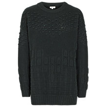 Buy Reiss 1971 Fauve Textured Jumper, Racing Green Online at johnlewis.com