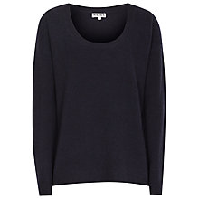 Buy Reiss Erika Scoop Neck Jumper, Night Navy Online at johnlewis.com