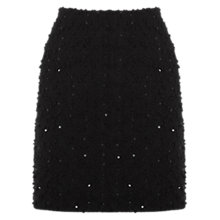 Buy Oasis Popcorn Skirt, Black Online at johnlewis.com