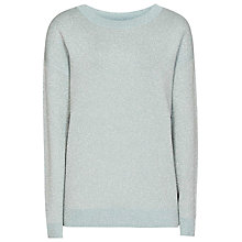 Buy Reiss Anastasija Metallic Jumper, Baltic Blue Online at johnlewis.com