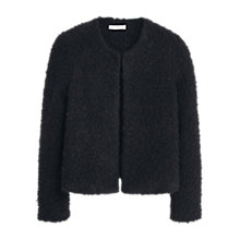 Buy Mango Textured Alpaca Blend Jacket, Black Online at johnlewis.com