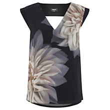 Buy Oasis Dahlia Placement Top, Multi/Blue Online at johnlewis.com