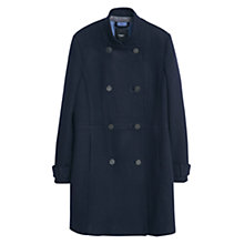 Buy Mango Double Breasted Wool Blend Coat, Navy Online at johnlewis.com