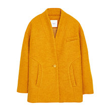 Buy Mango Boucle Wool Blend Cocoon Coat, Medium Yellow Online at johnlewis.com