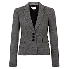 Buy Hobbs Juliane Jacket, Grey/Black Online at johnlewis.com