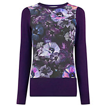 Buy Oasis John Grant Jumper, Multi Purple Online at johnlewis.com