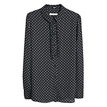 Buy Mango Polka Dot Print Shirt, Navy Online at johnlewis.com