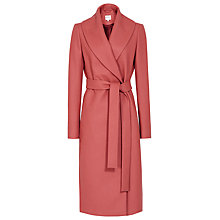Buy Reiss Lennie Long Wrap Coat, Ambrosia Online at johnlewis.com