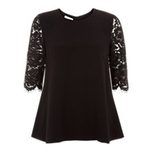 Buy Hobbs Ellen Top, Black Online at johnlewis.com