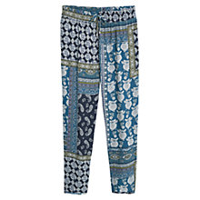 Buy Violeta by Mango Printed Baggy Trousers, Dark Blue Online at johnlewis.com