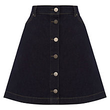 Buy Oasis The Emily Denim Skirt, Dark Wash Online at johnlewis.com
