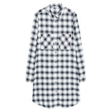 Buy Mango Check Cotton Shirt, Natural White Online at johnlewis.com