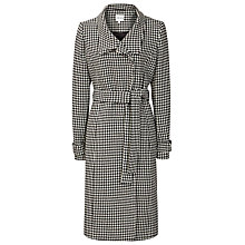 Buy Reiss Rubik Houndstooth Coat, Black/Off White Online at johnlewis.com