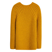 Buy Mango Long Chunky Knit Jumper, Medium Yellow Online at johnlewis.com