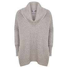 Buy Hygge by Mint Velvet Chevron Ribbed Jumper, Silver Grey Online at johnlewis.com