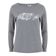 Buy Hygge by Mint Velvet Foil Print T-Shirt, Grey Online at johnlewis.com