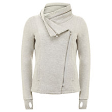 Buy Hygge by Mint Velvet Cowl Jacket, Grey Online at johnlewis.com