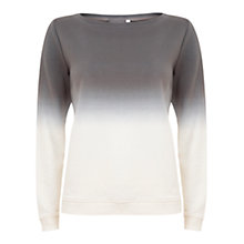 Buy Hygge by Mint Velvet Ombre Sweat Top, Cream/Grey Online at johnlewis.com