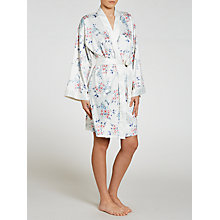 Buy John Lewis Satin Pastel Bloom Kimono, Ivory Online at johnlewis.com